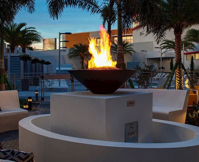 Fire Pits Facility at Daytona Beach Hotel