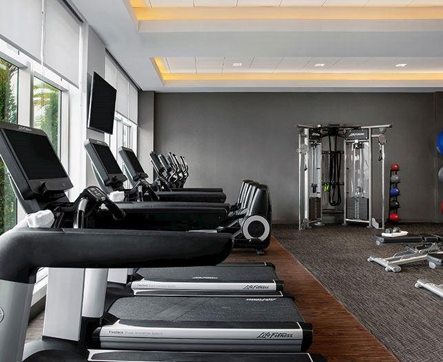Fitness Center Facility at Daytona Beach Hotel
