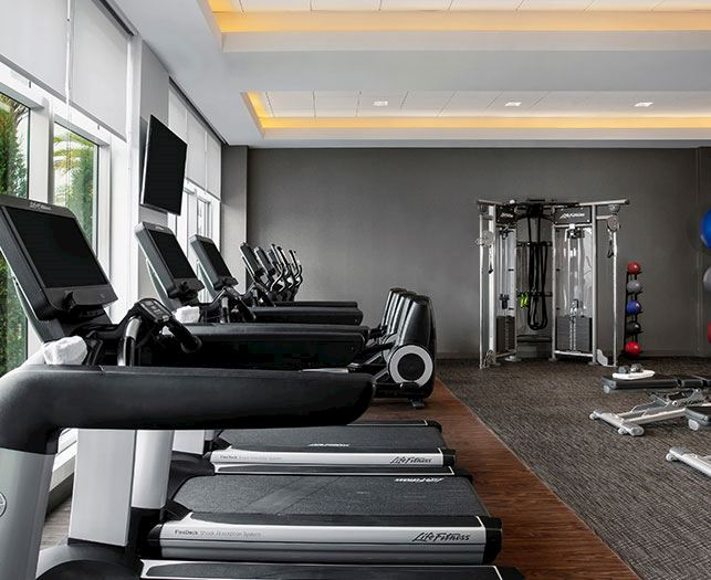 Fitness Center Facility at Daytona Beach Hotel